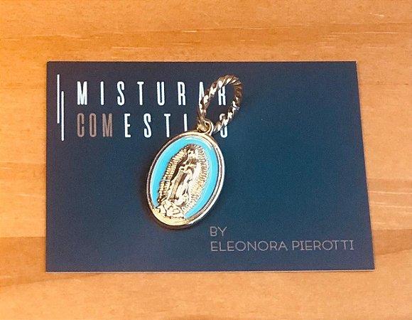 Medalha Nossa Senhora de Guadalupe - Azul Claro