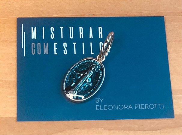 Medalha Nossa Senhora das Graças - Azul