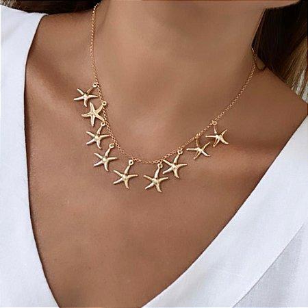 Colar Estrela do Mar - Dourado