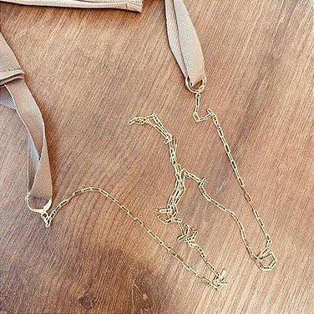 Porta Mascara - Corrente Cartier - Dourado