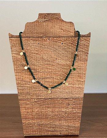 Choker Confete com Cristais - Verde