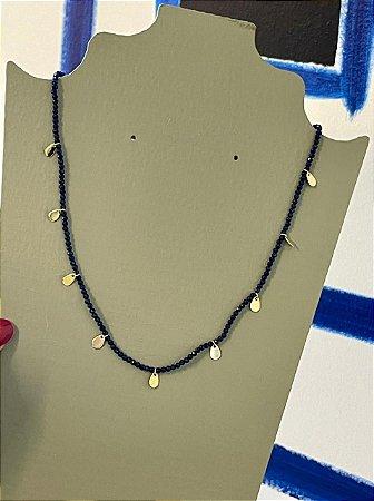 Colar Choker Bebela - Azul Marinho