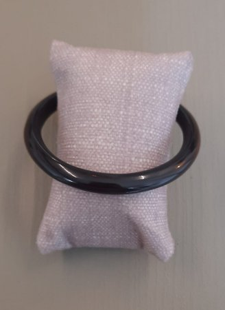 Bracelete Fino de Resina - Preto
