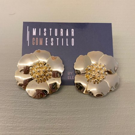 Brinco Flor Sevilha - Dourada