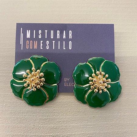 Brinco Flor Sevilha - Verde