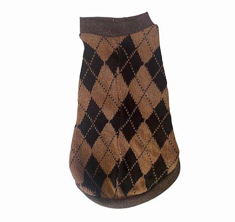 Suéter em Tricô Geométrico