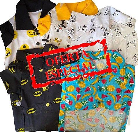Camisas de personagens, individual ou 03 camisas promocionais