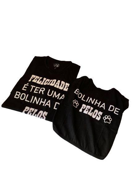 camisetas Bolinha de pelo pet e humanos