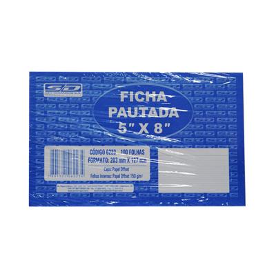 FICHAS PAUTADAS 5X8