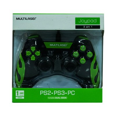 CONTROLE GAMER PS3/PS2/PC PT VD