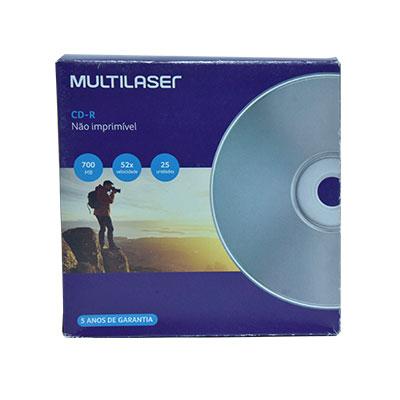MÍDIA CD -R VEL 52X- 25 UNID ENVELOPE IMPRESSO EM CAIXA