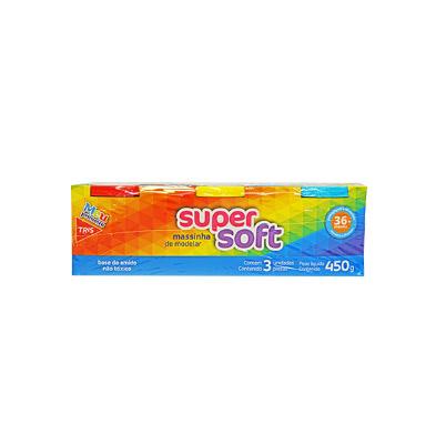 MASSINHA DE MODELAR SUPER SOFT 03 CORES TRIS