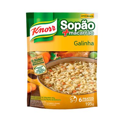 KNORR SOPÃO DE GALINHA + MAC 195G