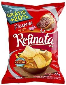 BATATA FRITA 54G REFINATA PICANHA SACHÊ
