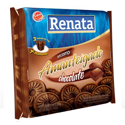 BISCOITO RENATA 330G AMANTEIGADO CHOCOLATE