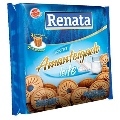 BISCOITO RENATA 330G AMANTEIGADO LEITE