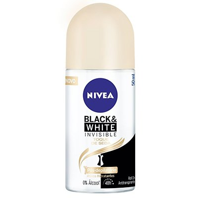 DESODORANTE ROLL ON NIVEA BLACK&WHITE TOQUE DE SEDA