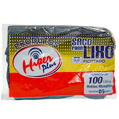 SACO LIXO 100LT C/5 UND HIPER PLUS