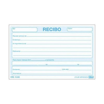 RECIBO COMERCIAL S/C GDE 50F