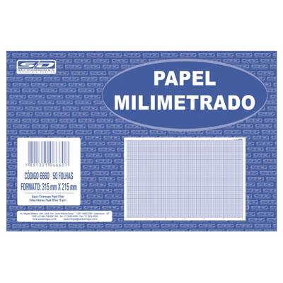 PAPEL MILIMETRADO C/50FLS 215X315