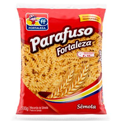 MACARRÃO FORTALEZA SEMOLA PARAFUSO 1X500GR
