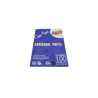 PAPEL CARBONO AZUL RADEX C/100 FLS