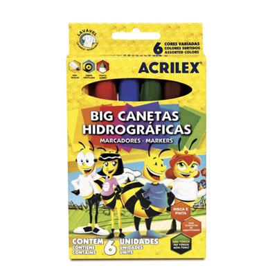 BIG CANETINHAS ABELHINHAS C/6 CORES