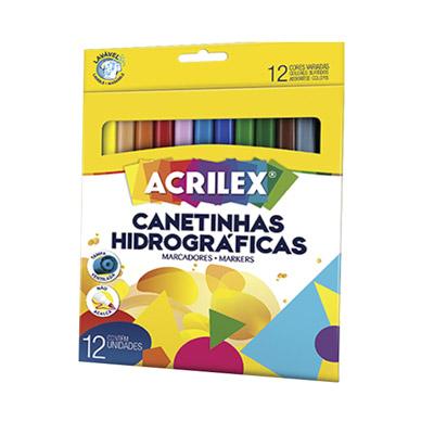 CANETINHAS HIDROGRÁFICAS 12 CORES