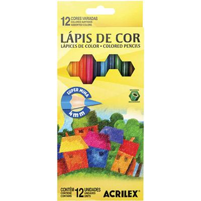 LÁPIS DE COR C/12 CORES