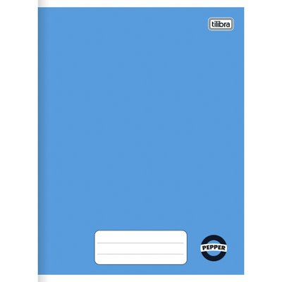 CADERNO BROCHURA CD 1/4 PEPPER AZUL 80F