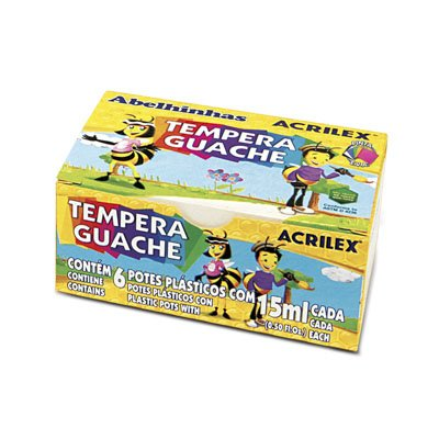 TEMPERA GUACHE 15ML 6 CORES