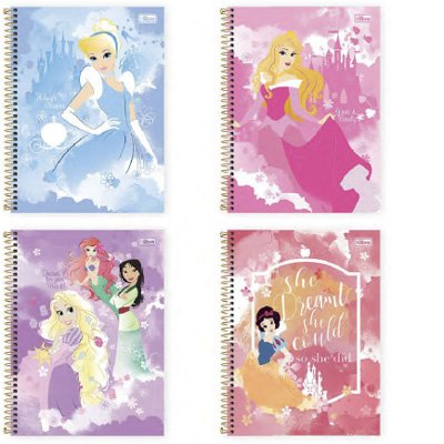 CADERNO 10 MATÉRIAS CD PRINCESAS LIGHT
