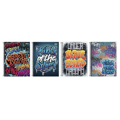 CADERNO 10 MATÉRIAS CD GRAFFITI