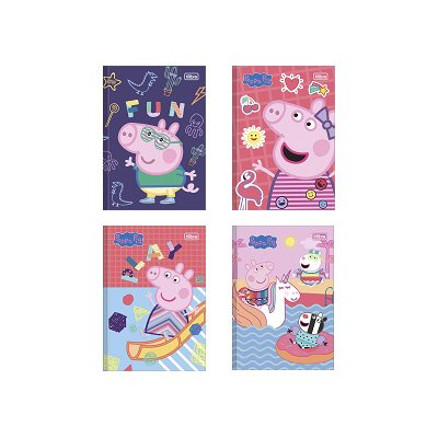 CADERNO BROCHURA CD 1/4 PEPPA PIG 40FLS