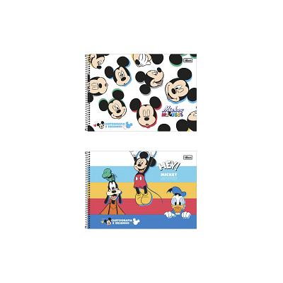 CADERNO DE CARTOGRAFIA E DESENHO CD MICKEY 80FLS
