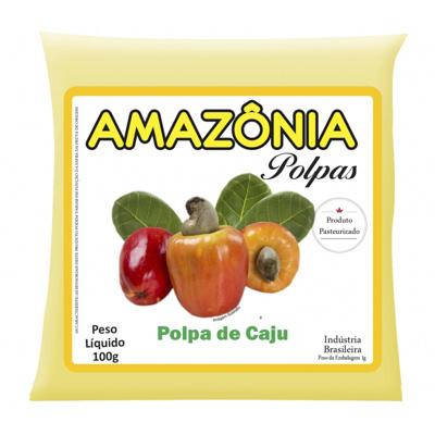 POLPA DE CAJU PACOTE 100G AMAZÔNIA