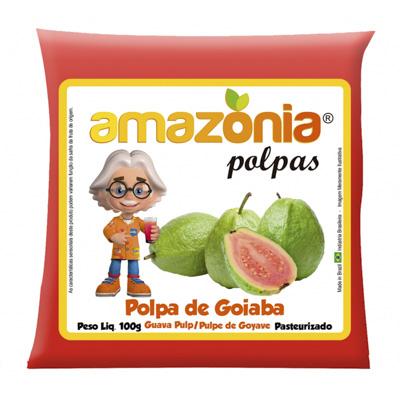 POLPA DE GOIABA PACOTE 100G AMAZÔNIA
