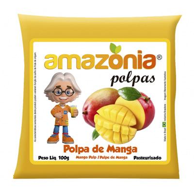 POLPA DE MANGA PACOTE 100G AMAZÔNIA