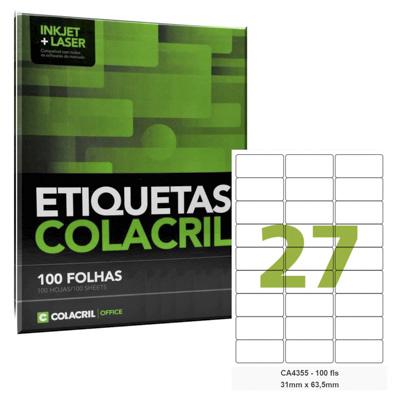 ETIQUETAS ADESIVAS P/IMPRESSORAS INKJET+LASER 31MMX635MM