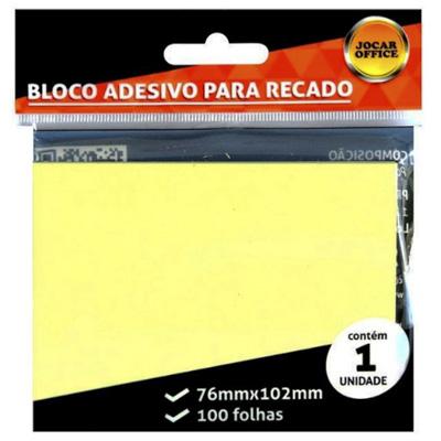 BLOCO ADESIVO AMARELO 76X102 JOCAR OFFICE