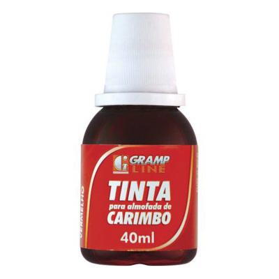 TINTA CARIMBO 40ML VERMELHO GRAMP LINE
