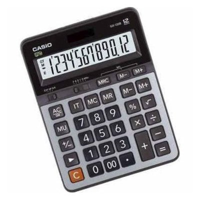 CALCULADORA DE MESA CASIO GX-120BWDC PRATA