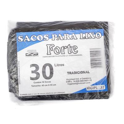 SACO LIXO 30LT C/10 UND FORTE PRATA