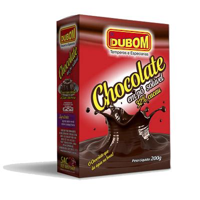 CHOCOLATE EM SOLÚVEL 32% DUBOM 200G