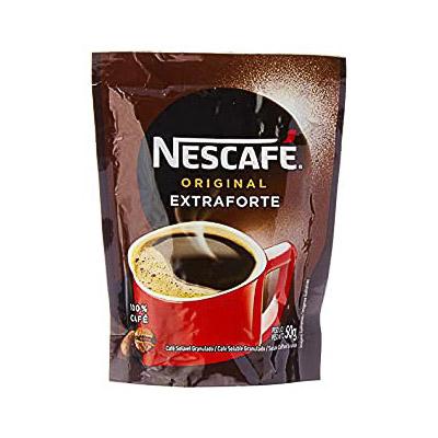 CAFÉ SOLÚVEL NESCAFÉ NESTLÉ ORIGINAL EXTRAFORTE 50G SACHÊ