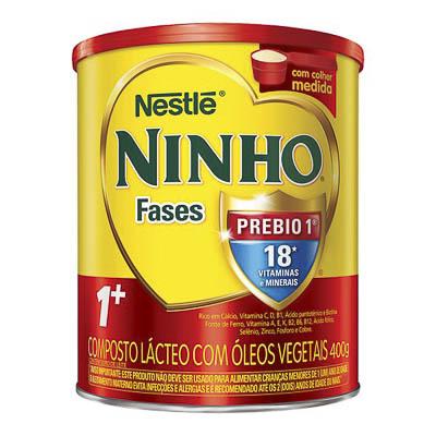 COMPOSTO LÁCTEO EM PÓ NINHO FASES 1 PREBIO 1+ 400G