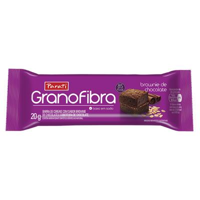 BARRA DE CEREAIS GRANOFIBRA  BROWNIE DE CHOCOLATE 20G