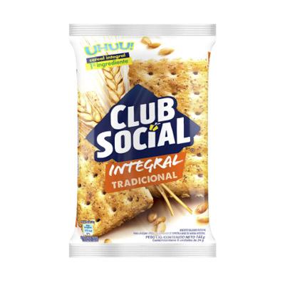 BISCOITO SALGADO CLUB SOCIAL INTEGRAL 144G PACOTE