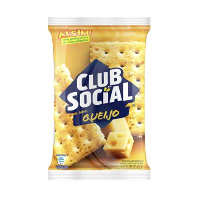 BISCOITO SALGADO CLUB SOCIAL QUEIJO 141G PACOTE