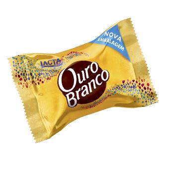 BOMBOM DE CHOCOLATE OURO BRANCO 20G